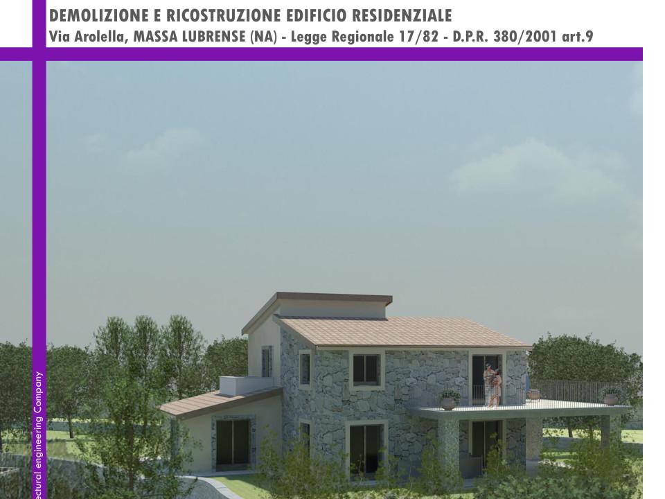 Demolizione e ricostruzione edificio residenziale Massa Lubrense