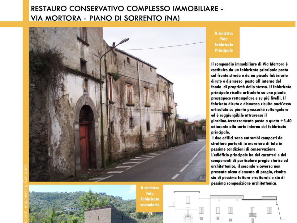 Recupero conservativo complesso immobiliare Piano di Sorrento