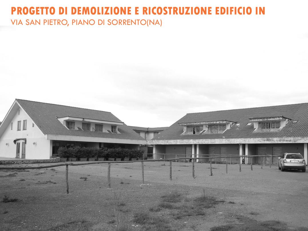 Demolizione e ricostruzione edificio Piano di Sorrento