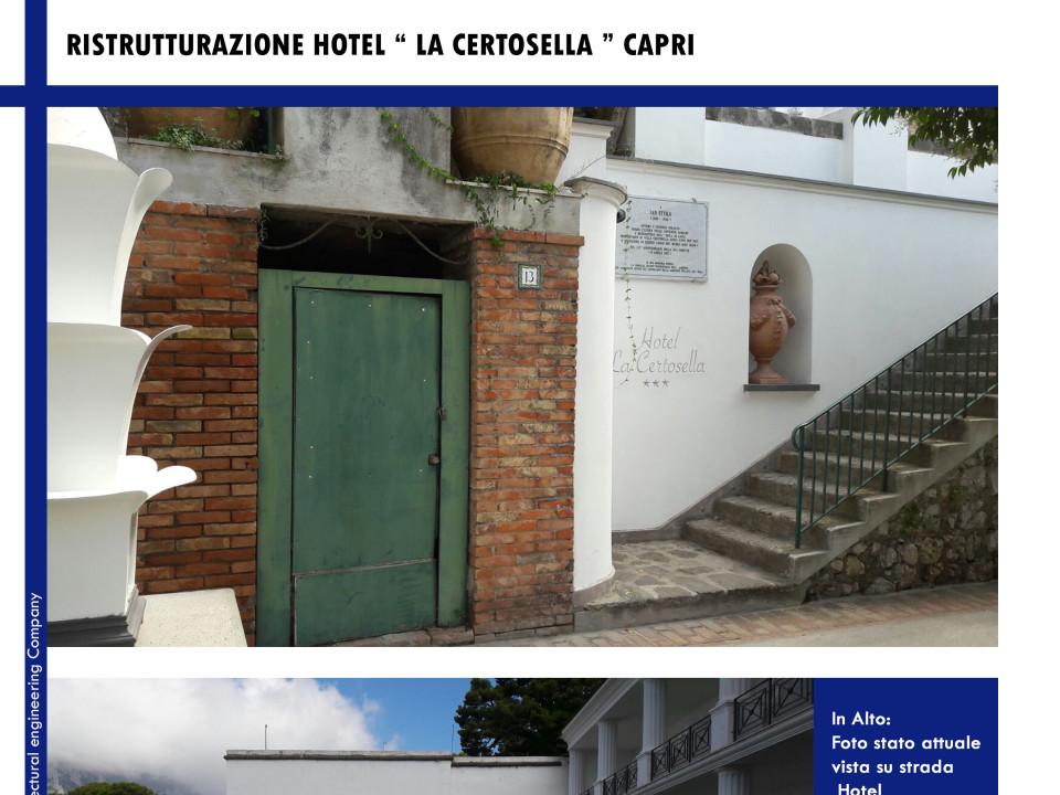 Ristrutturazione Hotel La Certosella Capri